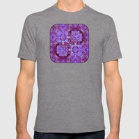 Hydrangea Paisley Abstra… Mens Fitted Tee Tri-Grey SMALL