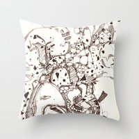 Paper And Pen Throw Pillow
