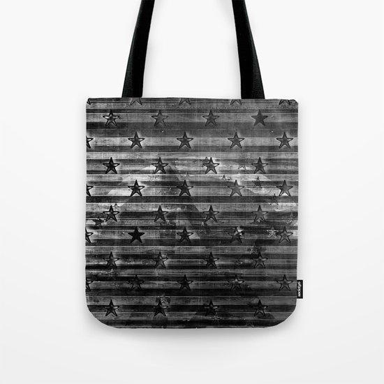 Black Stars & Black Stripes Tote Bag