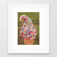 I Scream Framed Art Print