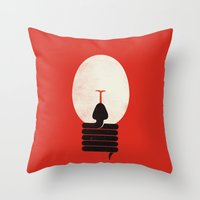 The Idea Eater Throw Pillow
