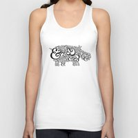 Ampersand Hippo Unisex Tank Top