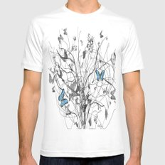 two of a kind  SMALL White Mens Fitted Tee