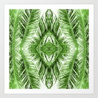 Tropical Palm Green Art Print
