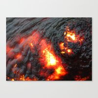 Flaming Seashell 4 Canvas Print