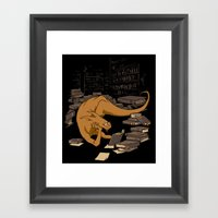 The Book Wyrm Framed Art Print