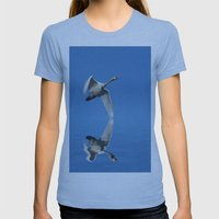 Reflections Of A Swan Womens Fitted Tee Athletic Blue SMALL