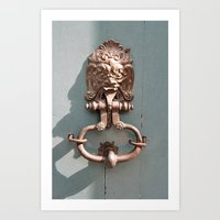 Lions Head Art Print