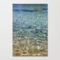 Touching Water Canvas Print