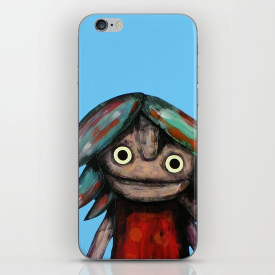 Girl vith teddy bear iPhone & iPod Skin