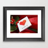 Simple Origami Love Framed Art Print