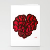 brain Stationery Cards featuring Brain by Myles Hunt