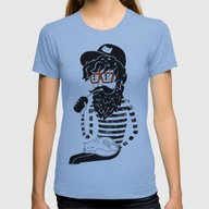 Dreamer Womens Fitted Tee Athletic Blue SMALL