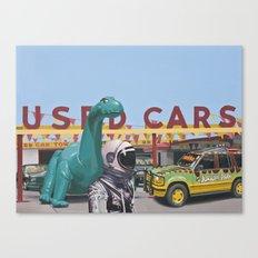 Jurassic Parking Lot Canvas Print