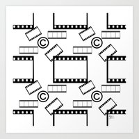 Film © pattern Art Print