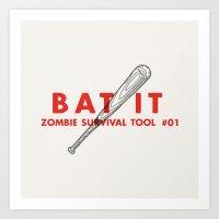 Bat It - Zombie Survival… Art Print