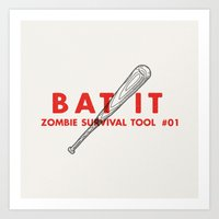 Bat It - Zombie Survival… Art Print