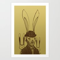 The Rabbit Man Art Print