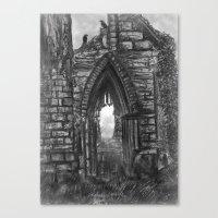 Tumbledown Abbey Canvas Print