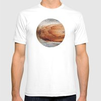 Planetary Bodies - Rust Wood Mens Fitted Tee White SMALL