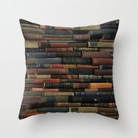 Books on Books Throw Pillow