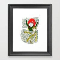 Tina&Ape Framed Art Print