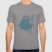 Lotus&Guitar Mens Fitted Tee Athletic Grey SMALL
