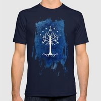 The White Tree Mens Fitted Tee Navy SMALL