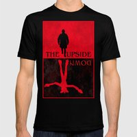 The Upside Down Mens Fitted Tee Black SMALL