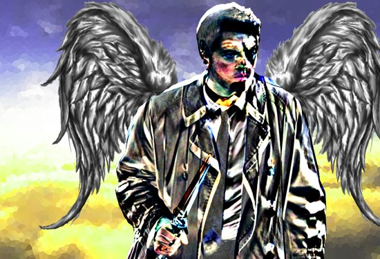 Castiel: An Angel of the Lord Art Print