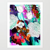 Forest Flowers 3 Art Print