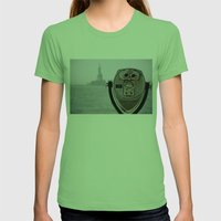 Turn To Clear Vision Womens Fitted Tee Grass SMALL