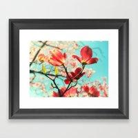 Spring Dogwood Blossoms Framed Art Print