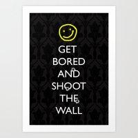 Smiley target Art Print