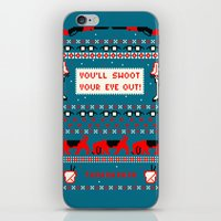 A Christmas Sweater (Blu… iPhone & iPod Skin