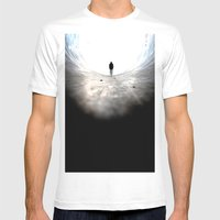 look out. Mens Fitted Tee White SMALL