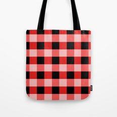 Red squares Tote Bag