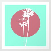Two Palm Trees Art Print