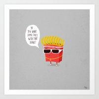Douche Fries Art Print