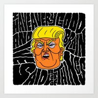 Trump's Good Brain Art Print