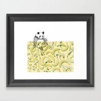 panda bear Framed Art Print