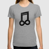 Music Forever Womens Fitted Tee Tri-Grey SMALL