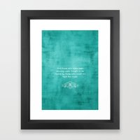 Quoted  Framed Art Print