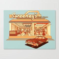 Sweeney's Diner Canvas Print