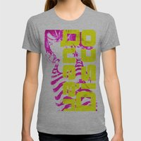 Disco Queen Of Myworld Womens Fitted Tee Athletic Grey SMALL