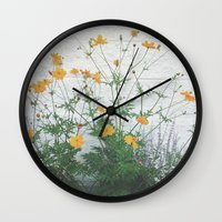 Yellow + Purple Wall Clock