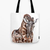 Giraffe With Baby Giraff… Tote Bag