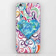 Doodle Heart iPhone & iPod Skin