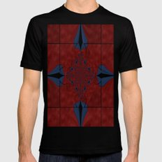 Stained Glass Kaleidoscope Black Mens Fitted Tee SMALL