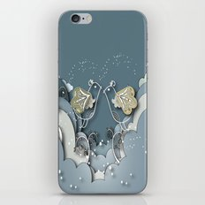 Blue kiss in spring iPhone & iPod Skin